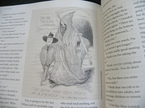 Children's Media Yearbook 2015 - Terry Pratchett by Chris Riddell