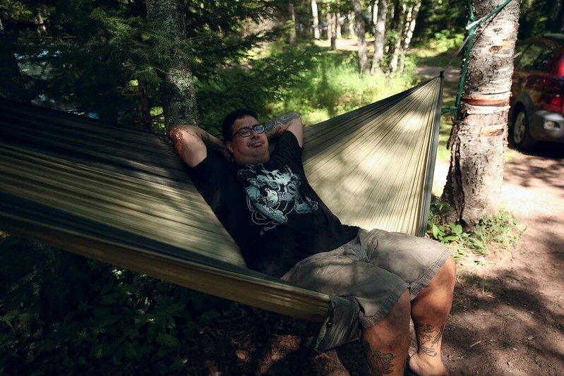 Camping on Madeline Island