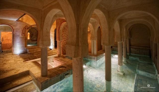 Zona de contrastes del Hotel Termal Burgo de Osma