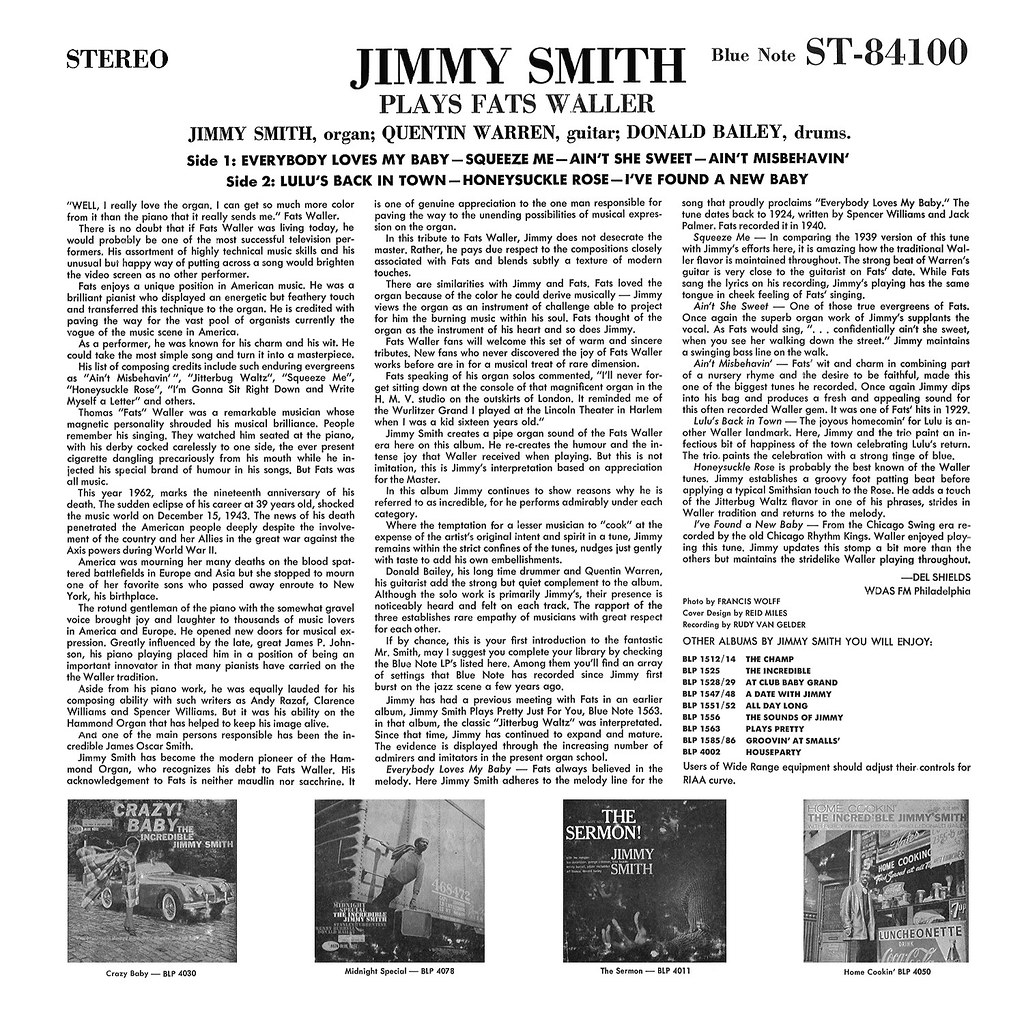 Jimmy Smith Plays Fats Waller