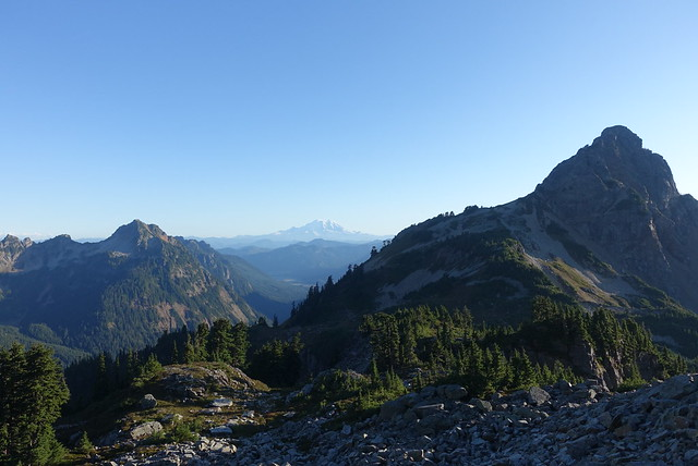 Mt Rainier is still out