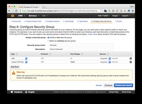 Security Group Configuration