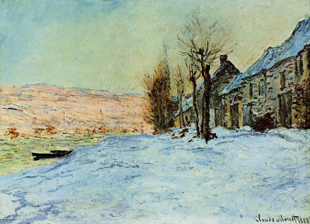 Lavacourt, Sun and Snow by Claude Oscar Monet - 1878-1881