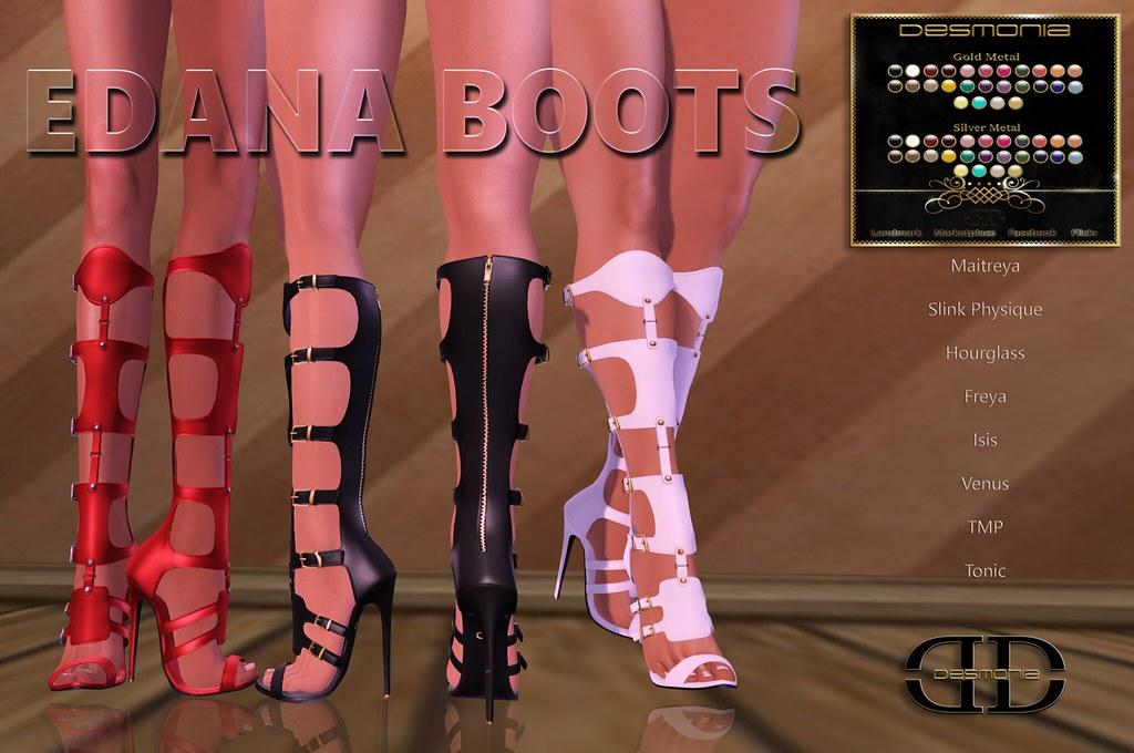 Edana Boots Fatpack - SecondLifeHub.com