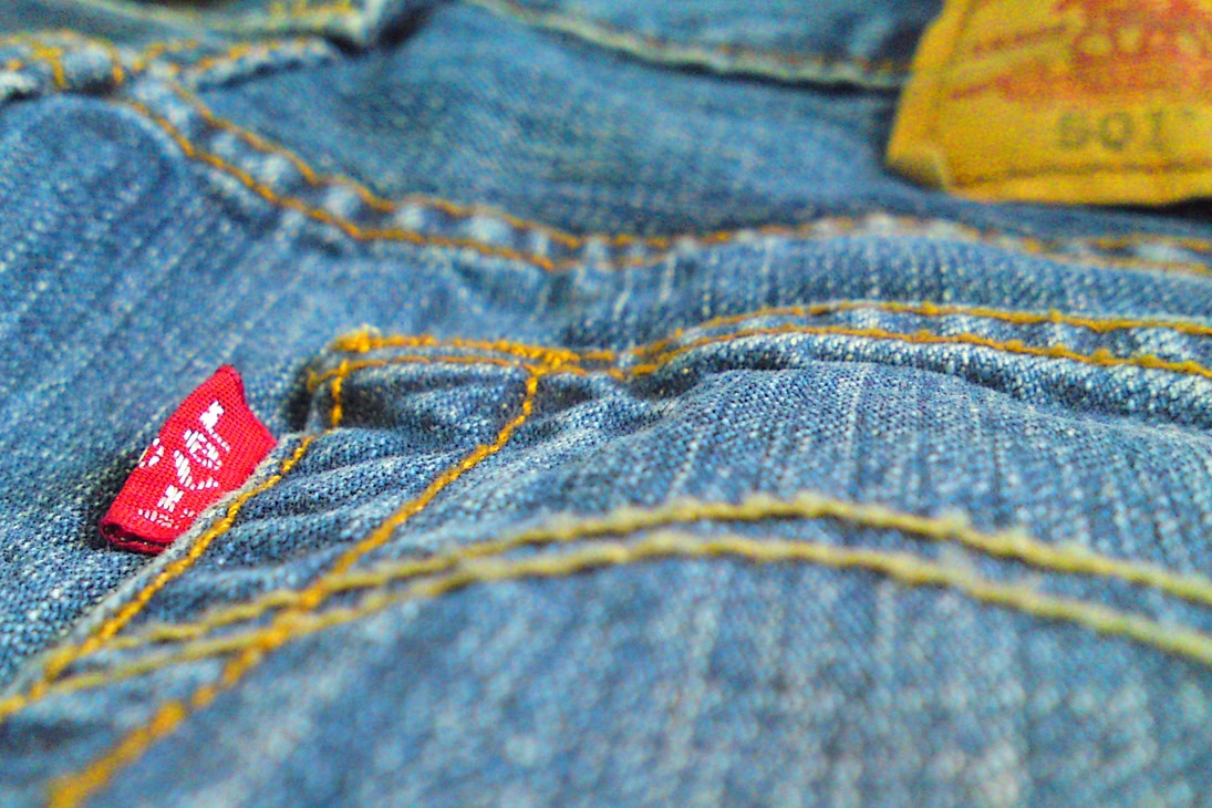 The back of a pair of Levi's 501 jeans.. Credit Blake Burkhart