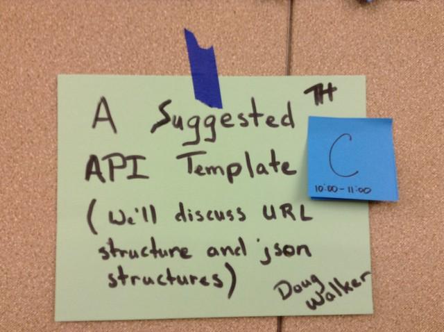 Suggested API Template