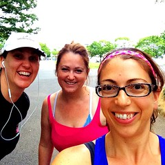 Last Tuesday run in the park with my favorite running buddies! I\'m going to miss you guys!