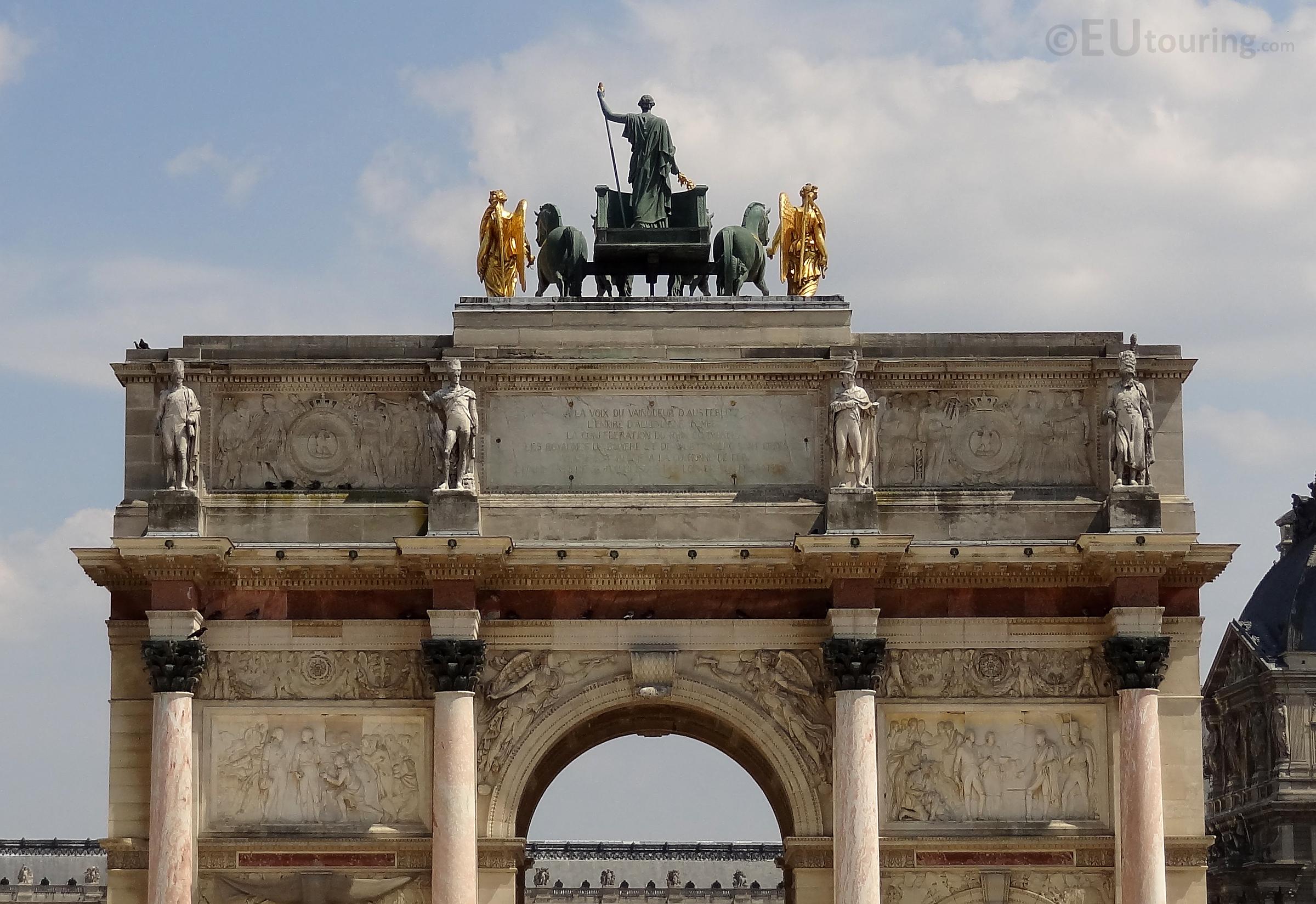 West side of the Arc de Triomphe du Carrousel