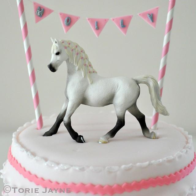 Pony on cake