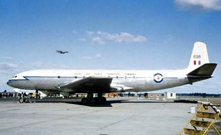 "Jul 1963 - Royal Air Force Transport Command 216 Squadron de Havilland C.2 ""Comet"" (serial XK698) at the airshow, Royal Australian Air Force Base, Richmond, New South Wales, Australia"