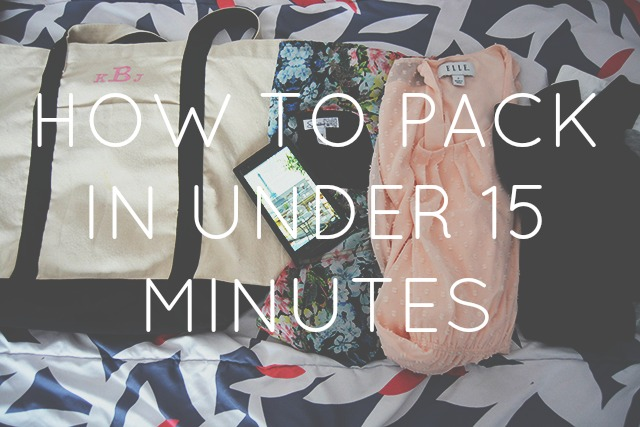 How to Pack for Summer Trips in Under 15 Minutes!