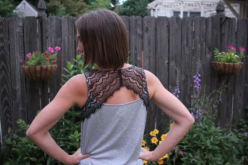 Pixley Bramley Lace Detail Knit Tank $54