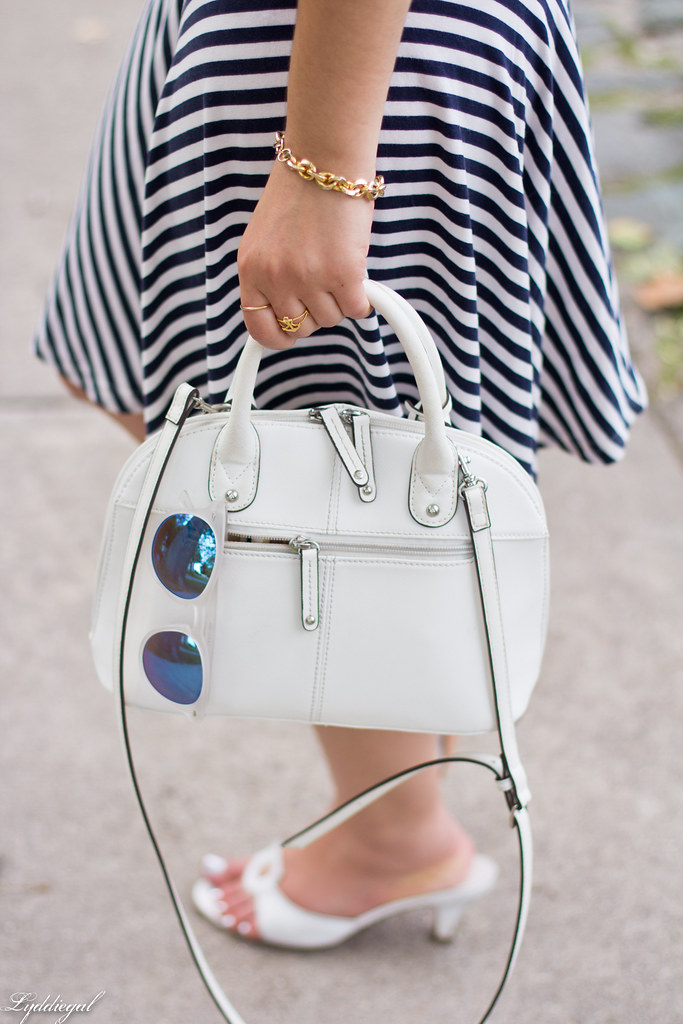 chambray shirt, striped skirt, white sandals-8.jpg
