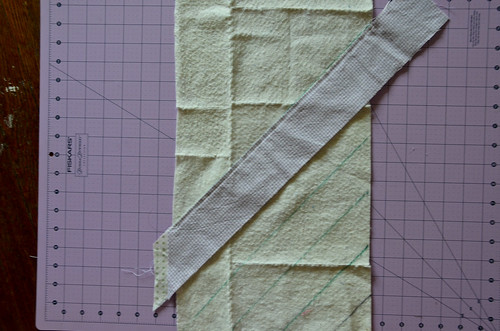 6. Sew fabric strips