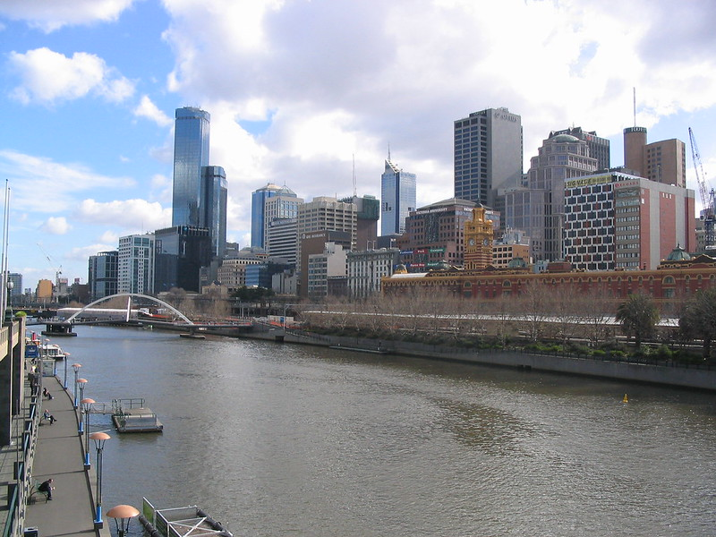Melbourne, Yarra river, July 2005