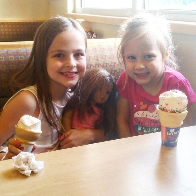 Saturday Night #icecream Date with my girls (and Liam)! ❤