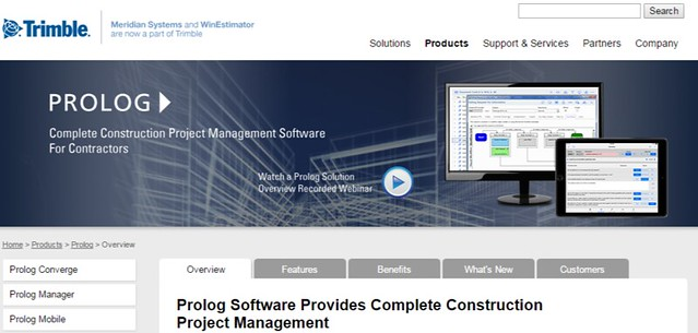 Construction Project Management Prolog Meridian Systems