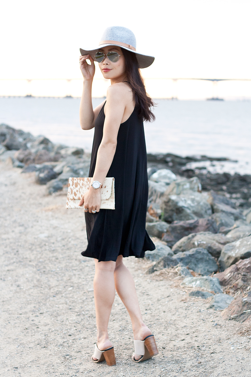 07-black-dress-fedora-hat-seychelles-mules-sf-sanfrancisco-style