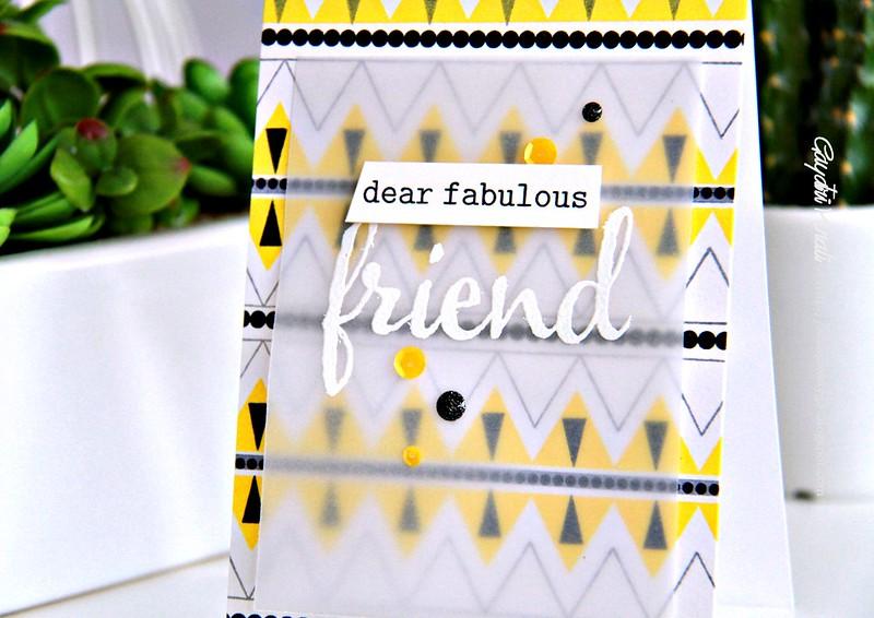 Dear fabulous friend closeup