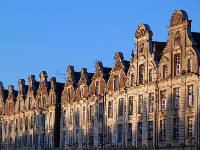 Edificios de la Grand Place d'Arras (Nord-Pas de Calais, Francia)
