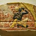 """Colorful relief depicting Egyptian king suckling Hathor Thebes Egypt New Kingdom """"19th Dynasty"""" 1300-1200 BCE by mharrsch"""