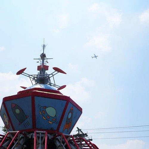 宇宙船と飛行機。