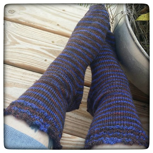 "Off the needles! The yarn is a Bamboo sock yarn sadly no longer supplied by my distributor (I called it ""Anne"" while I carried it) in a colorway I found deep in my stash. I think it was a test dye for a club colorway back in 2011 or 2012. #knittersofinsta"