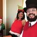 PeeDee, Shilpa, and Wilson at the Christmas Piano - 1