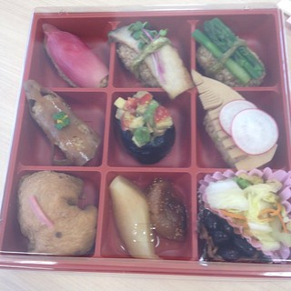 Sushi box at a little vegfest in Asasuka last weekend.