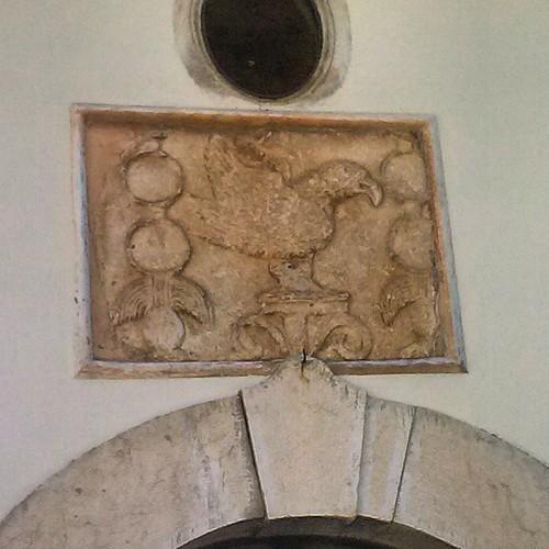 #aquila #antica ritrovata mentre si scavava e messa  sopra la sua porta di una casa #collelongo #marsicapiu