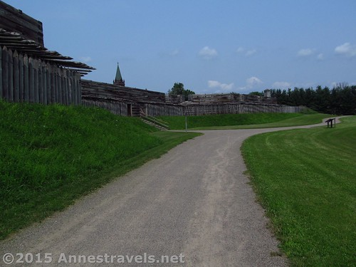 The path around the outside of the Fort Stanwix National Monument, New York