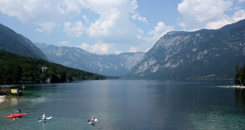 Bohinj lake rowers