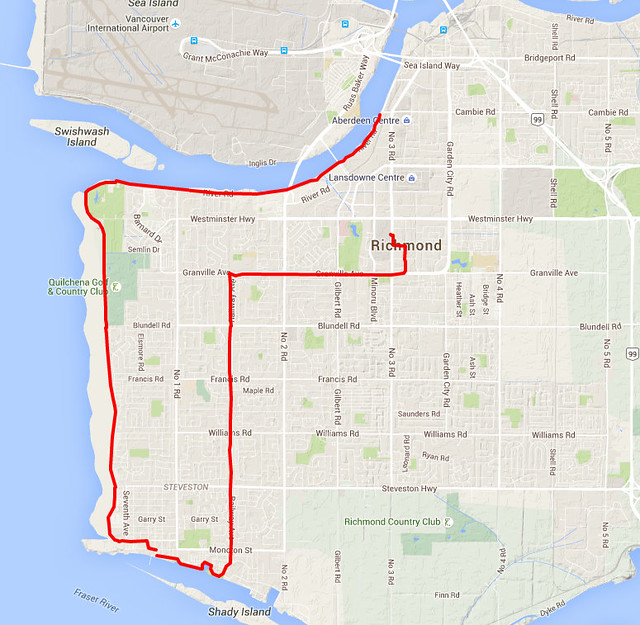 Steveston Bike Ride Map