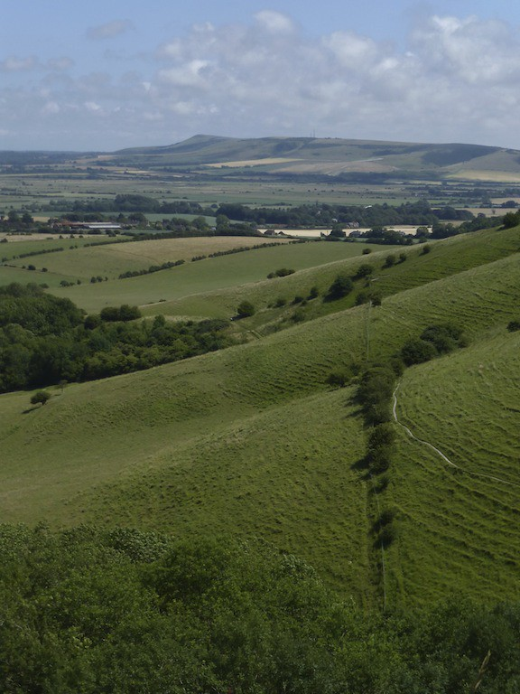 View from the downs near the start Lewes to Brighton via Rottingdean walk