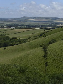 View from the downs near the start