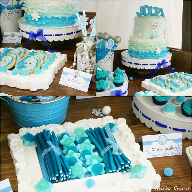 Carrito de dulces para fiesta Frozen Merbo Events