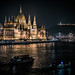 View of the Parliament at night from Margaret Bridge. by Vagelis Pikoulas