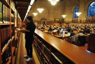 Kuva New York Public Library lähellä New York County. nyc library reading newyorkcitypubliclibrary manhattan
