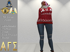 AGS INC. Exclusive Womens Christmas Fit with Appliers