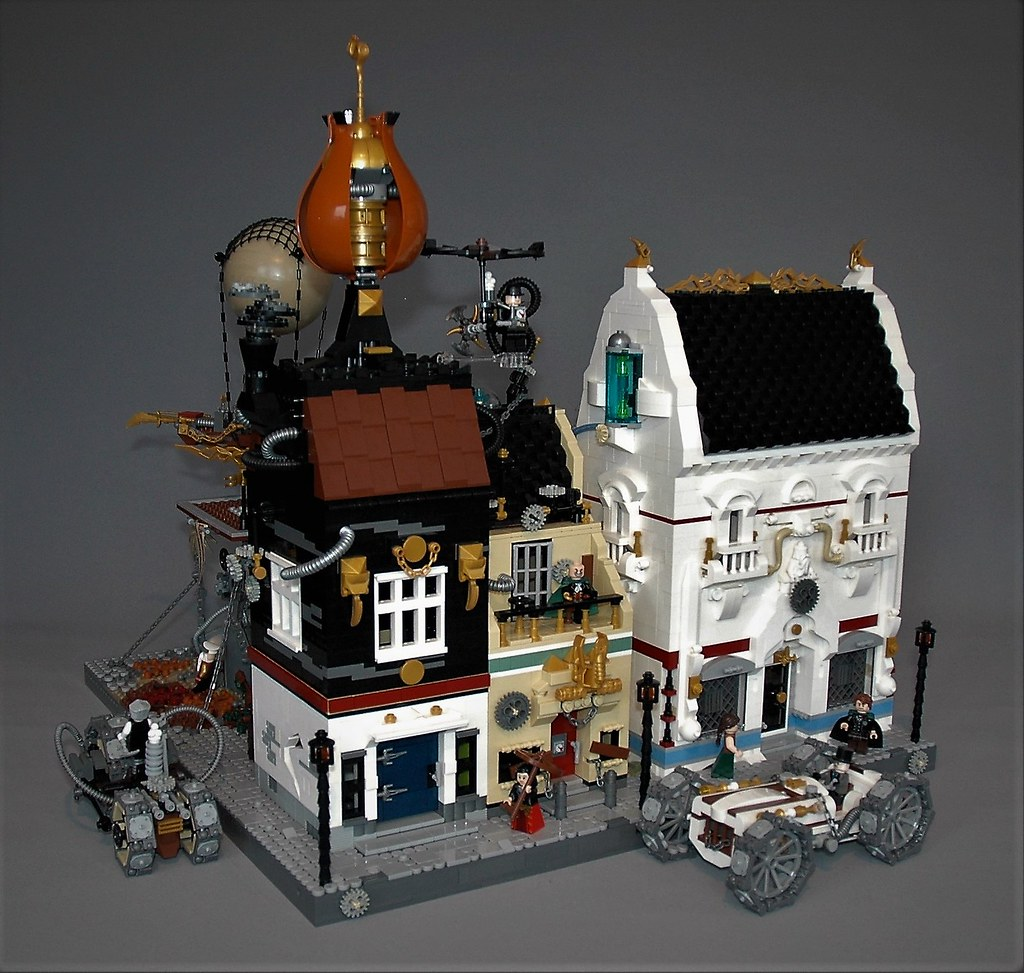 Steampunk neighbourhood