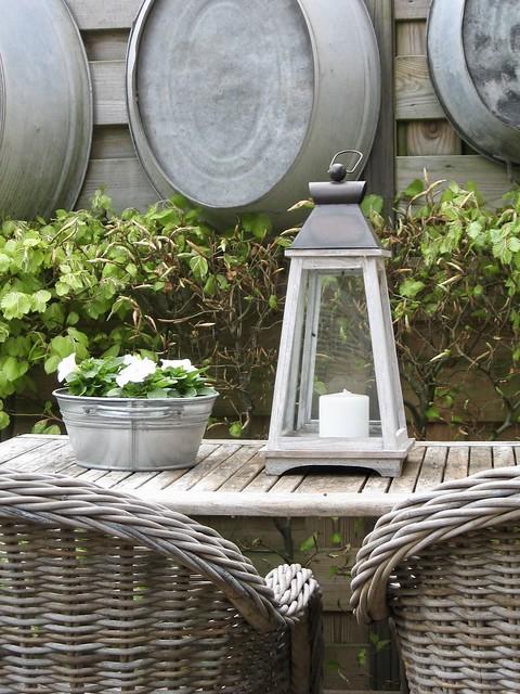 Decoratie tuintafel landelijk