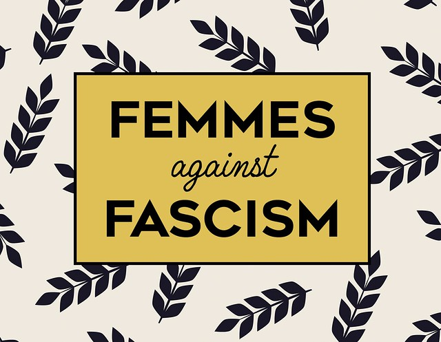 Femmes Against Fascism - Main Image, Black & Gold Modern