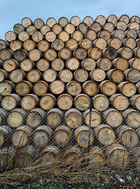 whisky barrels!