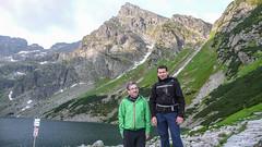 Nasz team: Marcin i ja nad Czarnym Stawem Gasienicowym