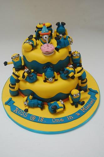 18th Birthday MultiMinion Cake Beautiful Birthday Cakes
