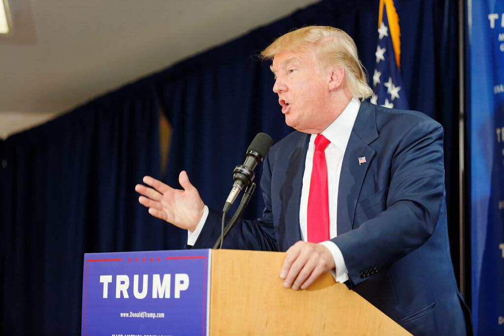 Donald Trump Laconia Rally, Laconia, NH by Michael Vadon