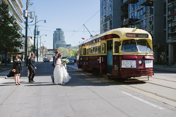 Celine Kim Photography Bellwoods Brewery intimate city wedding Toronto vintage ttc streetcar-41