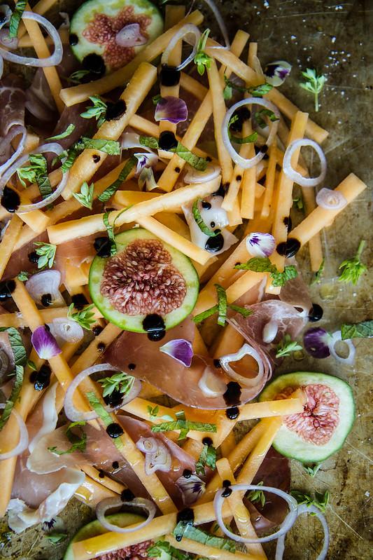 Melon, Fig and Prosciutto Salad