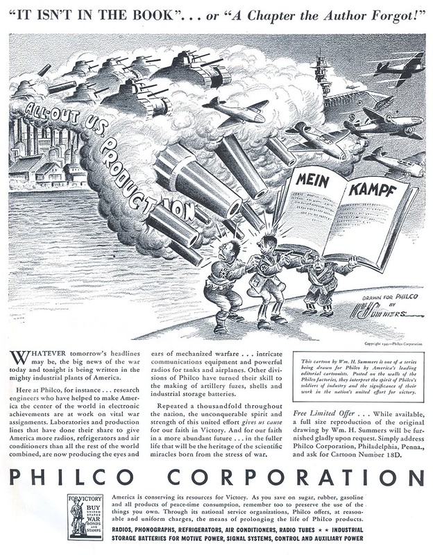 Philco Corporation - published in Life - September 7, 1942 - illustration by William H. Summers