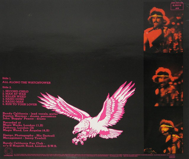 "RANDY CALIFORNIA ALL ALONG THE WATCHTOWER 12"" Vinyl LP"